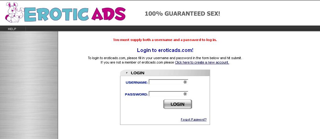 EroticAds Homepage2