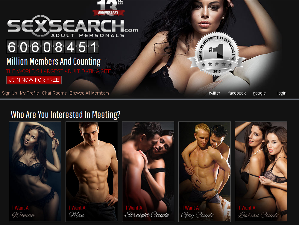 SexSearch Homepage1